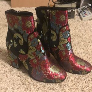 Marc Fisher NWOT Floral Booties